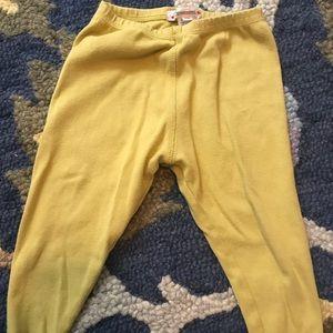 Bonpoint 12M mustard crop leggings, gently used.